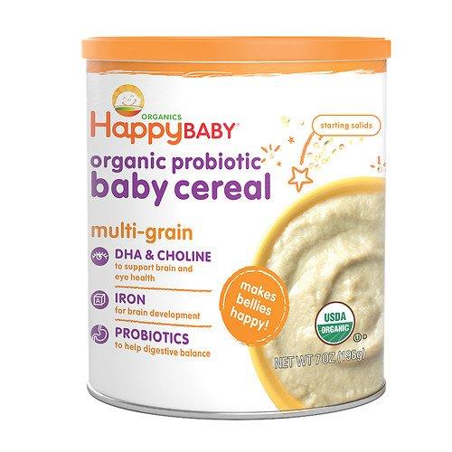 (Happy Baby Organic Probiotic Baby Cereal: Multi-Grain 7 oz (198 g) (Pack of 2) (2 pack))
