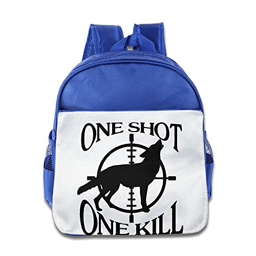 Price comparison product image XJBD Custom Cute One Shot - One Kill Kids Children Shoulders Bag For 1-6 Years Old RoyalBlue