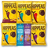 Vegan Happy and Healthy Snacks Variety Pack Sampler, Different Flavor Chickpeas, Include 1 Ounce Hippeas and 1.2 Ounce Biena Chickpea Snacks by Variety Fun (14 Count)