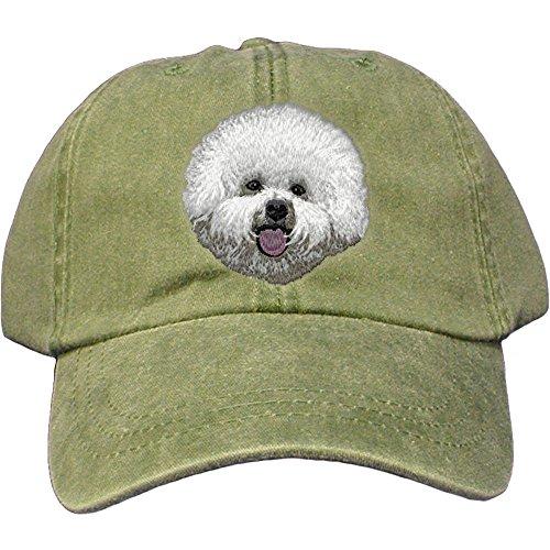 Frise Baseball Bichon Cap - Cherrybrook Dog Breed Embroidered Adams Cotton Twill Caps - Spruce - Bichon Frise