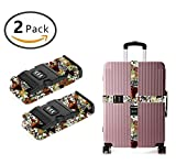 YEAHSPACE 2-Pc Love Dogs Cats Luggage Strap Suitcase Belts TSA Approved Lock
