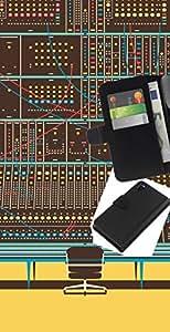 """A-type (Panel de control digital"""") Colorida Impresión Funda Cuero Monedero Caja Bolsa Cubierta Caja Piel Card Slots Para Sony Xperia Z3 D6603"""