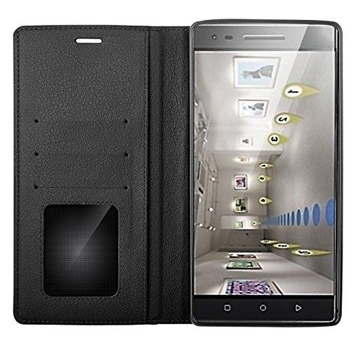 Lenovo Phab 2 Pro carcasa funda / funda / caso, KuGi ® Lenovo Phab 2 Pro funda carcasa / caso - Caso Monedero pata de cabra de alta calidad PU cuero for Lenovo Phab 2 Pro smartphone.(Negro) Negro