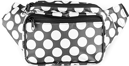 SoJourner Bags Fanny Pack - Polka Dot (Gray and White)