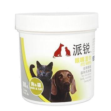 HYGMall 100 piezas / bolsa de baño de limpieza cuidado de mascotas Ojos mojados toallitas suministros: Amazon.es: Productos para mascotas