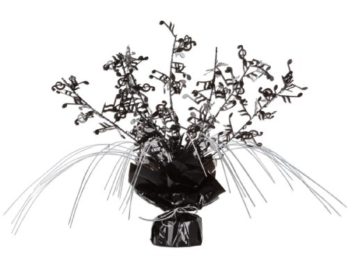Beistle 57921 1-Pack Musical Notes Gleam 'N Spray Centerpiece, (Music Notes For Centerpiece)