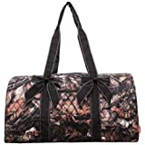 Natural Camo Quilted Duffle Bag For Sale