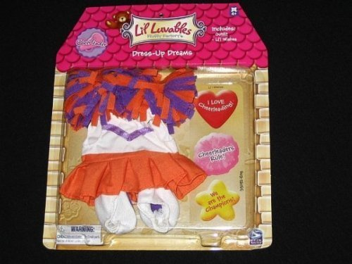 Lil Luvables Fluffy Bear Factory Dress-up Dreams Cheerleader