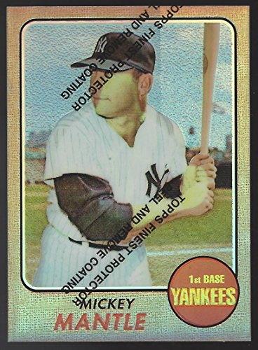 MICKEY MANTLE 1996 Topps Finest Commemorative Set 1968 Refractor #18