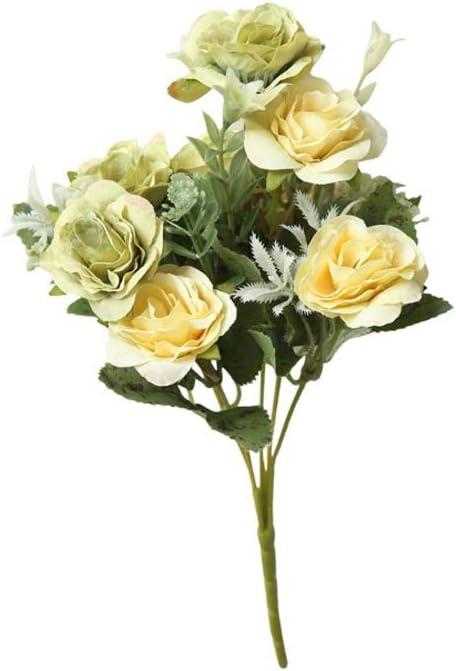 útil 8 Cabezas Artificiales peonía Falsa Flor de Seda Hortensia Nupcial hogar decoración de la Boda Regalo (Color : C)