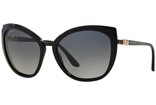 12442af7de BVLGARI Le Gemme BV6076TG Black Titanium 18K Gold Plated Diamond POLARIZED  Sunglasses 6076