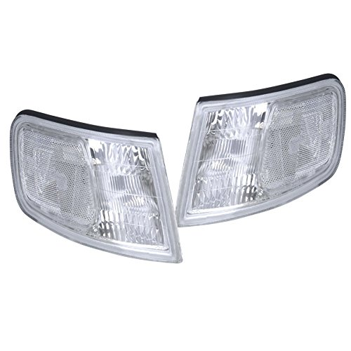 94-97 HONDA ACCORD EURO CLEAR LENS CORNER TURN SIGNAL LAMP LIGHTS LEFT+RIGHT - Honda Accord Corner Lens