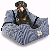 Dog Car Seat Puppy Booster Seat Pet Travel Car Carrier Durable Bed with Storage Pocket for Small to Medium Dog cat Safe and Comfortable Vehicle Truck SUV restrain Belt (Blue Colour)