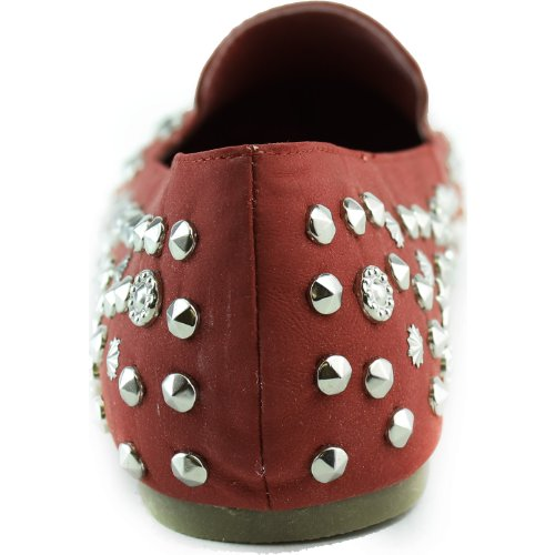 Womens Super Shine Star Spiked Sneakers Borchie Confortevoli In Nabuk In Similpelle Moda Scarpe Rosse
