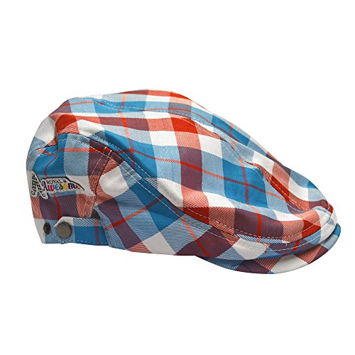 Royal & Awesome Men's Golf Hat, Plaid a Blinder, One Size