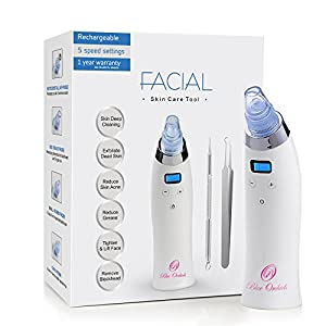 BlueOrchids Comedo Suction Microdermabrasion Machine - blackhead and Whitehead remover - facial pore cleanser - improves acne, exfoliates dead skin, makes wrinkles smooth, and make skin tight & firm.