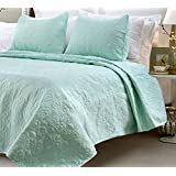 Multiple Sizes - Oversized-3pc Quilted Coverlet Set- Sage-King - Exclusively by Blowout Bedding RN# 142035