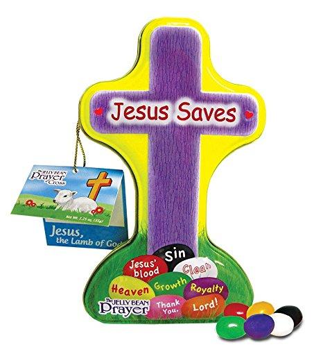 Scripture Candy Jelly Bean Prayer Cross Tin]()