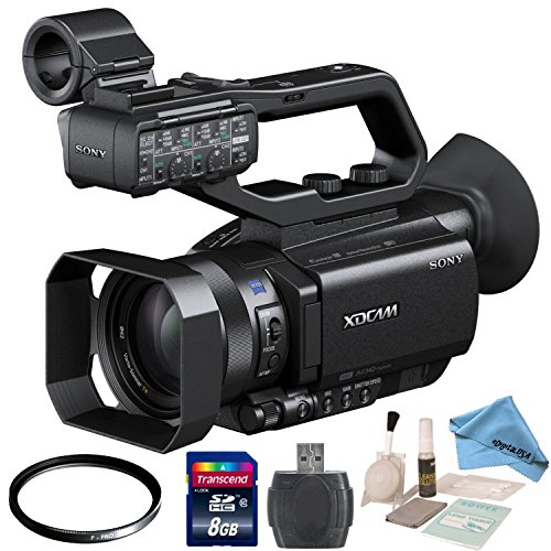 Sony PXW-X70 with eDigitalUSA Starters Kit: Includes 62mm UV Filter, 8GB SDHC Memory Card, Card Reader, Brush Blower, Cleaning Kit & eDigitalUSA Microfiber Cleaning Cloth by Sony