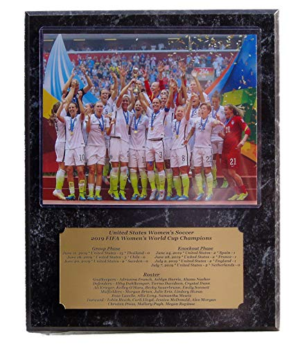 2019 United States US Womens Soccer FIFA World Cup Champions 8x10 Photo Plaque