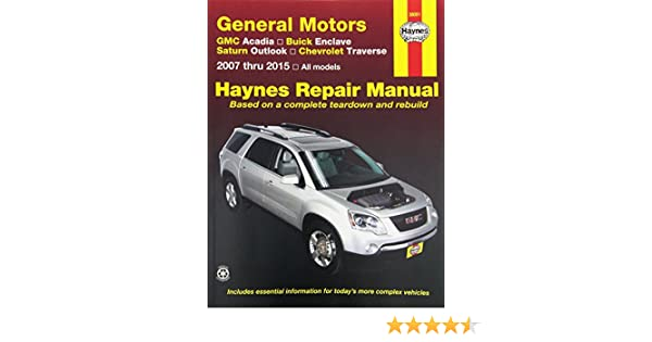 amazon com haynes repair manual covering gmc acadia 2007 2013 rh amazon com 2010 gmc acadia repair manual pdf 2007 gmc acadia repair manual pdf