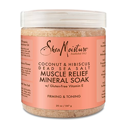 - Shea Moisture Coconut & Hibiscus Dead Sea Salt Muscle Relief Mineral Soak for Unisex, 20 Ounce