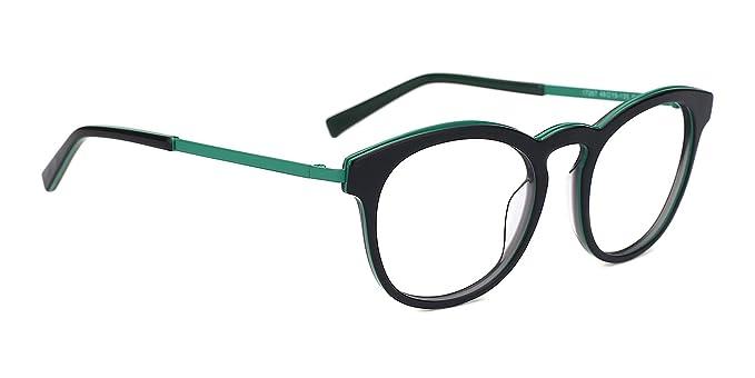820876a393862 Amazon.com  TIJN Vintage Round Optical Glasses Eyewear Acetate Eyeglasses  Frame Rx-able  Clothing