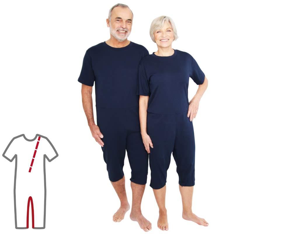 L Pflegeoverall f/ür Frauen und M/änner; slim lang mit Bein und R/ückenrei/ßverschluss; Demenz Overall; ActivePro
