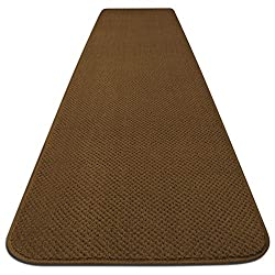 House, Home and More Skid-resistant Carpet Runner - Bronze Gold - Many Other Sizes to Choose From