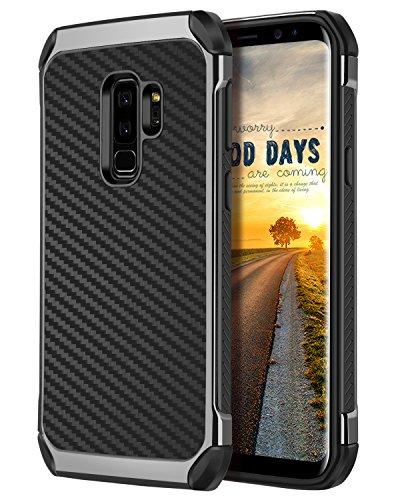 Carbon Fiber Hard Case - BENTOBEN Galaxy S9 Plus Case Black, Samsung S9 Plus Phone Case, Heavy Duty Hard PC Soft TPU Cover Carbon Fiber Texture Protective Case for S9 Plus(SM-G965U) - Black