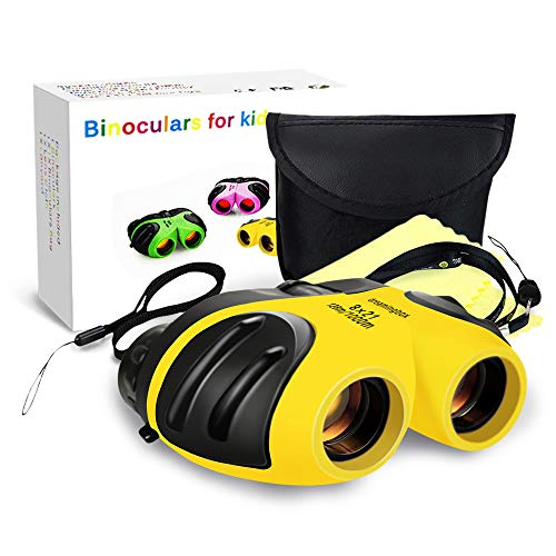 Gifts for 4 5 6 7Year Old Girls, TOP Gift Compact Binoculars Best Gifts for 3-12 Year Old Girls Boys Girls Toys for Boy Age 3-12 Year Old 2018 Gifts for Girls Stocking Fillers Yellow TGUS03.