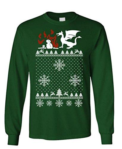 GOOZLER CHRISTMAS DRAGON Sleeved T Shirt