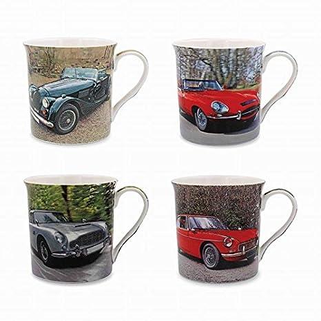 Amazon Com Classic Cars Jaguar Aston Martin Mgb Morgan Set Of 4