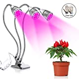 LED Grow Light, Honfill 7W High Yield Plant Grow Lamp, Triple Head 360 Degree Flexible Gooseneck, Separate Switches, with Gardening Glove for Indoor Plants, Hydroponic Gardening, Greenhouse, Office