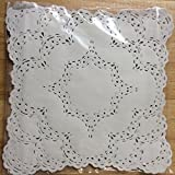 12x12 Inch White Square Lancaster Paper Doilies 50 Count