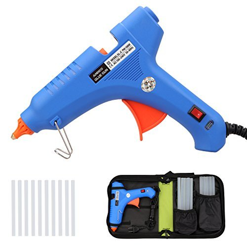 100W Hot Glue Gun with 10 pcs Glue Sticks and Carry Bag, ANBES Professional High Temperature Hot Melt Glue Gun Kit for DIY Craft and Quick Repairs in Home Office by ANBES
