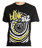 Blink 182 - Happy Face Logo - Men's T-Shirt Black (Large)