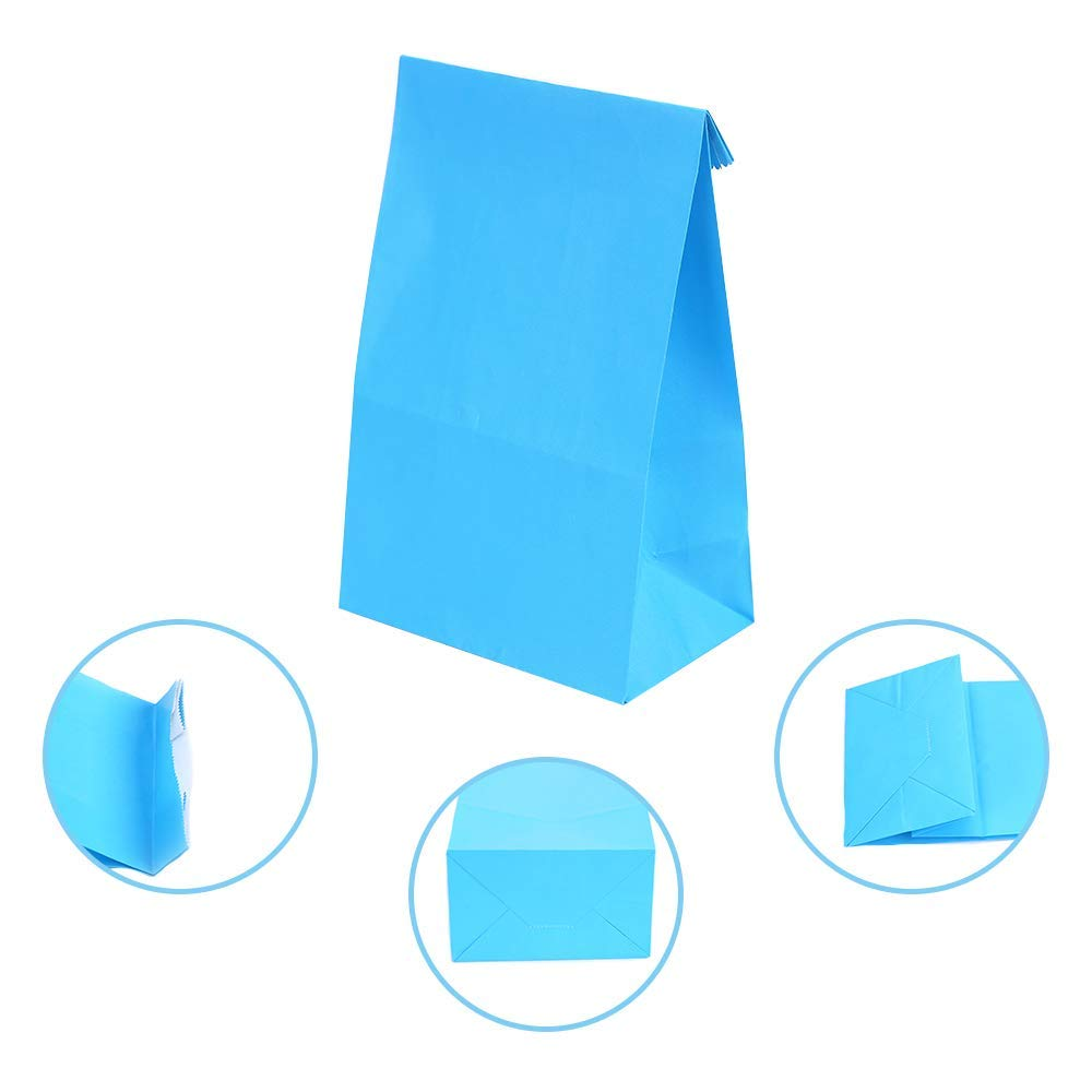 13 x 8x 24cm LOKIPA 24 Pieces Party Favor Paper Gift Bags with 36 Pieces Thank You Party Stickers for Birthday Party Supplies