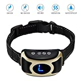 isYoung Bark Collar No Shock Bark Control with Sound and Vibration,Harmless and Humane,2018 Upgraded Rechargeable No Bark Collar with Smart Chip for Small Medium Large Dogs(Black/Gold) For Sale