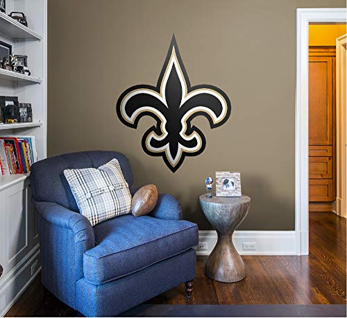 (FATHEAD NFL New Orleans Saints Officially Licensed Logo Removable Wall Decal, Multicolor,)