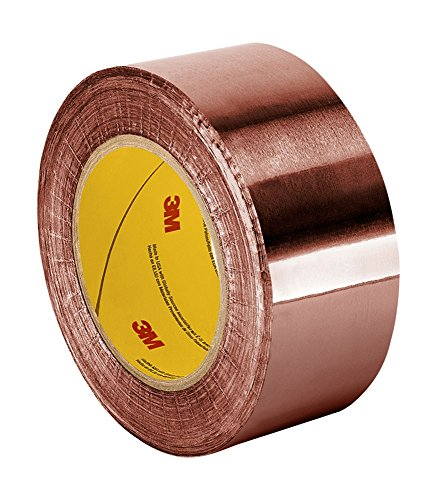 "TapeCase CFL-5A 4"" X 36YD Copper Foil Tape with Non-Conductive Acrylic Adhesive CFL-5A, 0.0035 mil Thickness, 36 yd Length, 4"" Width"