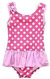 #4: ATTRACO Baby Girls One Piece Skirt Swimsuit Toddler Swimwear Polka Dot Ruffle