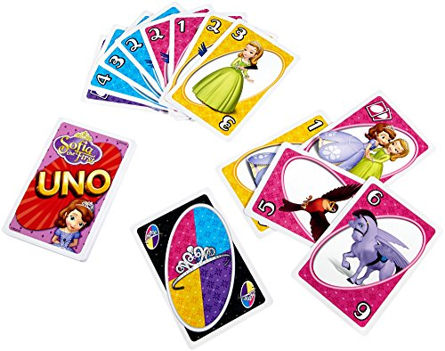 Mattel Games My First UNO Disney Sofia the First Card Game