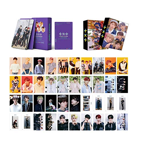 2Pack TXT Photocard Set, 54PcsTXT Greeting Lomo Cards+54Pcs Poker Cards for Collection