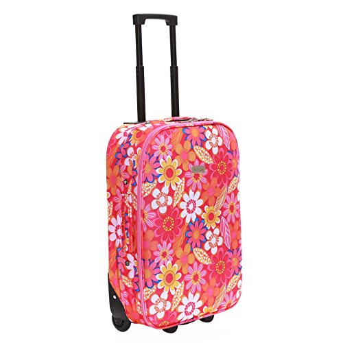 Slimbridge Algarve 55cm valigia super leggero, Fiori Rosa