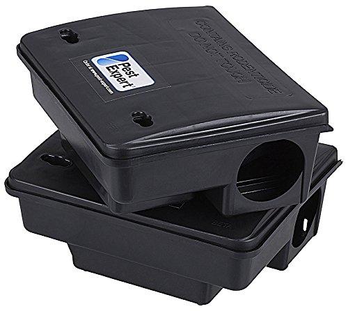 Rat & Mouse Outdoor Bait Boxes (x2), Heavy Duty - Pest Expert