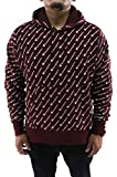 Champion Reverse Weave All Over Print Hoodie (Maroon, XS)