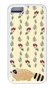 iPhone 5c Cases - Summer Unique Wholesale TPU White Cases Personalized Design Flower Small Fox