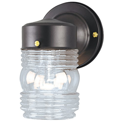 Westinghouse Lighting Angelo Brothers 66885  One-Light Jelly Jar (Glass Westinghouse Jelly Jar Light)