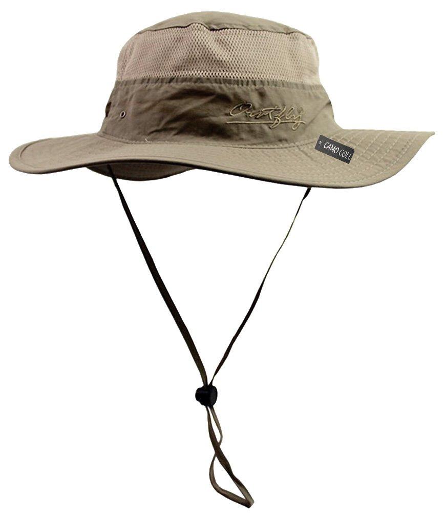 e1fe716254c Camo Coll Outdoor Sun Cap Camouflage Bucket Mesh Boonie Hat